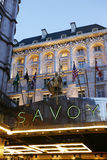 London Savoy Hotel Stock Images