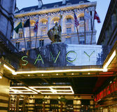 London Savoy Hotel royalty free stock photos
