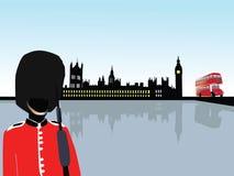London scenery vector. Vector illustration of London scenery Stock Photography