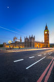 London scenery at Westminster bridge with Big Ben Royalty Free Stock Photography