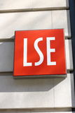 London School of Economics Sign. Sign for the London School of Economics and Political Science in Central London. Director,Sir Howard Davies,recently resigned Royalty Free Stock Photos