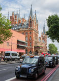 London-schwarze Fahrerhäuser Stockfotografie