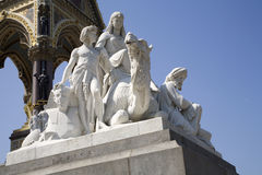 London - sculpture of Africa - Albert memorial Stock Photo