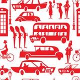 London seamless pattern. Seamless pattern with London urban scenes royalty free illustration