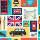 London Seamless Pattern Stock Photo