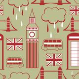 London seamless pattern Royalty Free Stock Photography