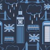 London seamless pattern Stock Photos