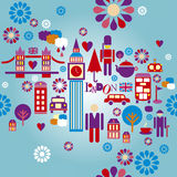 London seamless pattern  illustration Stock Photo
