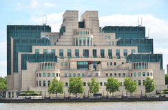 London, Secret Intelligence Service Building Stock Photos