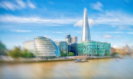 LONDON - SEPTEMBER 25, 2016: City skyline along river Thames. Lo. Ndon attracts 30 million people annually Stock Images