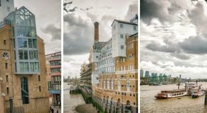 LONDON - SEPTEMBER 2016: City skyline along river Thames. London. Attracts 30 million people annually Royalty Free Stock Photography