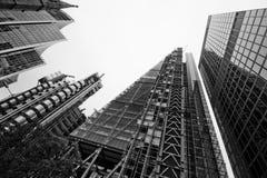 LONDON - SEPTEMBER 21: Leadenhall byggnad i konstruktion Arkivbild