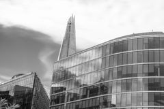 LONDON - SEPTEMBER 25, 2016: Modern city skyline along Thames ri. Ver. London attracts 30 million tourists annually Royalty Free Stock Photography