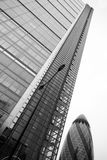 LONDON - SEPTEMBER 21: 30 St Mary Axe, Swiss Re, Gherkin Royalty Free Stock Photography