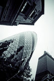LONDON - SEPTEMBER 21: 30 St Mary Axe, Swiss Re, Gherkin Stock Photos