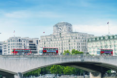 LONDON - SEPTEMBER 28, 2013: View of a London double decker buse Royalty Free Stock Images