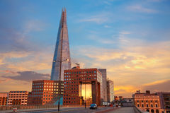 London The Shard building at sunset Royalty Free Stock Photography