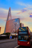 London The Shard building at sunset Royalty Free Stock Images