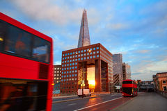 London The Shard building at sunset Stock Image