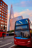 London The Shard building at sunset Royalty Free Stock Photos