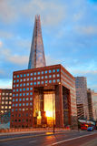 London The Shard building at sunset Royalty Free Stock Image