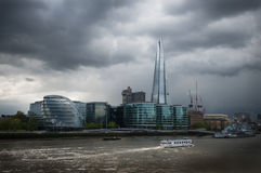 London shard and city hall Stock Photography