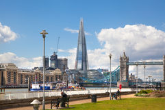 LONDON,  Shard of Glass View on the River Thames Royalty Free Stock Image