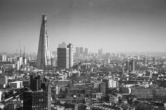 The London Shard with London skyline Stock Image