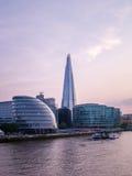 London The Shard twilight cityscape view England Stock Image