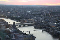 London. From shard view big europe trip 2015 best top Royalty Free Stock Photography