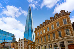 London shard view from old brick buildings Stock Photography