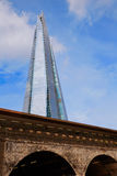 London shard view from old brick buildings Stock Photo