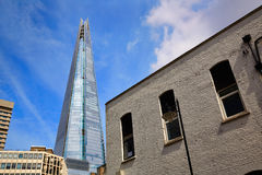 London shard view from old brick buildings Stock Photos