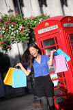 London shopping woman happy Royalty Free Stock Photos