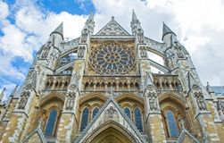 London. The side front of westminster abbey Stock Photo