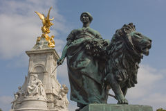 London-Sieg-Grenzstein Stockbild