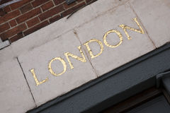 London Sign Royalty Free Stock Photography