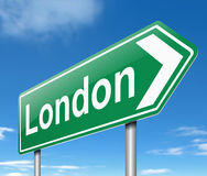 London sign. Stock Images