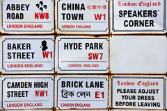 London signs. Several old signs of london Stock Images