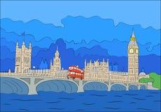 London sikt Royaltyfri Fotografi