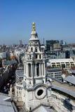 London - sikt från Sts Paul domkyrka Arkivfoto