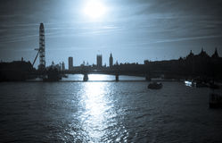 London Silhouette Royalty Free Stock Photo