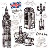 London Sketch Set Royalty Free Stock Images