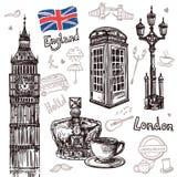 London-Skizzen-Satz Lizenzfreie Stockbilder