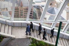 London Sky garden gallery with walking business people Stock Photo