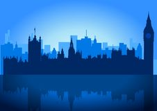 London Skyline. An illustration of London city skyline Stock Image