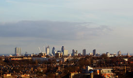 London skyline. At dawn. Seen from Highgate Royalty Free Stock Photography