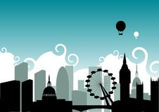 London Skyline. An illustration based on the city of London Royalty Free Stock Image
