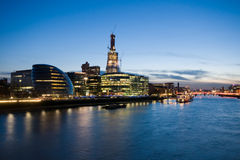 London skyline. In the evening light royalty free stock image