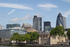 London Skyline. From the Tower Bridge royalty free stock image